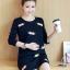 ชุดคลุมท้องแฟชั่นเกาหลี แขนยาว ลายแมวน้อย ผ้าหนานิ่ม M,L,XL thumbnail 1