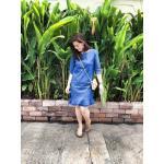 Dress Lalabay Jean เข้ม size M