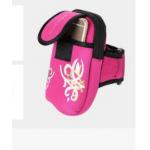 กระเป๋าคาดเขนสีชมพูมีลาย