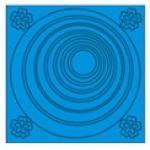 สติ๊กเกอร์วงกลมฟองสบู่(สีฟ้า)