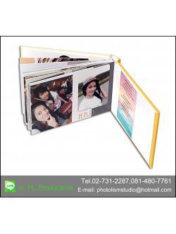 PhotoBook ขนาด 8x12 นิ้ว แนวนอน 20หน้า ปกแข็งพิเศษ เคลือบร้อน