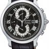นาฬิกาข้อมือผู้ชาย Seiko รุ่น SPC067P2, Premier Double Retrograde Chronograph Sapphire 100m