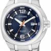 นาฬิกาข้อมือผู้ชาย Citizen Eco-Drive รุ่น BM0980-51L, Super Titanium Sapphire 100m Blue Dial