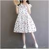 ชุดคลุมท้อง ผ้าฝ้ายสีขาว ลายเชอร์รี่ ทรงเกาหลี น่ารักมากคะ