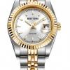 นาฬิกาผู้หญิง Rhythm รุ่น R1203S03, Traditional Oyster Sapphire Dual Tone R1203S 03, R1203S-03
