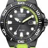 นาฬิกาข้อมือผู้ชาย Citizen Eco-Drive รุ่น BN0095-16E, Scuba Fin ISO Cert. 200m Professional Divers Watch