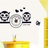 นาฬิกา นกฮูกขาว-ดำ