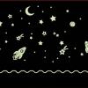 สติ๊กเกอร์เรืองแสงลายท่องโลกอวกาศ