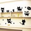 สติกเกอร์น้องแมวดำ