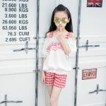 PX362 -เสื้อ+กางเกง 5 ชุด/แพค ไซส์ 120-160