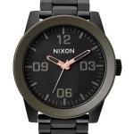 นาฬิกาผู้ชาย Nixon รุ่น A346-1530-00, Corporal SS Matte Black Industrial