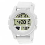 นาฬิกาผู้ชาย Nixon รุ่น A197100, The Unit White Digital Display Rubber