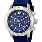 นาฬิกาผู้ชาย Nautica รุ่น A17652G, Chronograph Blue Dial Silicone Strap