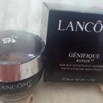 Lancome genofique repair ครีมบำรุงสำหรับกลางคืน ผิวนุ่มชุ่มชื่น กลิ่นหอมชวนหลงมากๆค่ะ ราคาส่ง 150 บาท