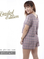 ชุดให้นม Phrimz : Nalynn Breastfeeding Top with Shorts - Purple