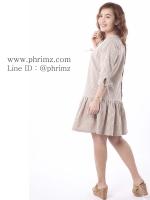 ชุดให้นม Phrimz : Briony Breastfeeding Dress - Brown สีน้ำตาล