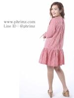 ชุดให้นม Phrimz : Briony Breastfeeding Dress - Red สีแดง