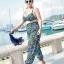 ชุดว่ายน้ำคนอ้วน พร้อมส่ง :ชุดว่ายน้ำไซส์ใหญ่สีดำแต่งลายโบฮีเมียนสีน้ำเงินเขียวสีสันสดใส set 4 ชิ้นมีเสื้อตัวนอก บราตัวใน กางเกงขาสั้น กางเกงขายาว แบบเก๋น่ารักมากๆจ้า:รายละเอียดไซส์คลิกเลยจ้า thumbnail 3