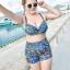 ชุดว่ายน้ำคนอ้วน พร้อมส่ง :ชุดว่ายน้ำไซส์ใหญ่สีดำแต่งลายโบฮีเมียนสีน้ำเงินเขียวสีสันสดใส set 4 ชิ้นมีเสื้อตัวนอก บราตัวใน กางเกงขาสั้น กางเกงขายาว แบบเก๋น่ารักมากๆจ้า:รายละเอียดไซส์คลิกเลยจ้า thumbnail 2