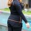 ชุดว่ายน้ำคนอ้วน พร้อมส่ง :ชุดว่ายน้ำสีดำตัดขอบสีส้มซิปหน้า set 5 ชิ้นมีเสื้อแขนยาว บรา กางเกงบิกินี่ด้านใน กางเกงขาสั้น กางเกงขายาว สีสวยแบบเก๋น่ารักมากๆจ้า:รายละเอียดไซส์คลิกเลยจ้า thumbnail 4