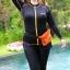 ชุดว่ายน้ำคนอ้วน พร้อมส่ง :ชุดว่ายน้ำสีดำตัดขอบสีส้มซิปหน้า set 5 ชิ้นมีเสื้อแขนยาว บรา กางเกงบิกินี่ด้านใน กางเกงขาสั้น กางเกงขายาว สีสวยแบบเก๋น่ารักมากๆจ้า:รายละเอียดไซส์คลิกเลยจ้า thumbnail 1