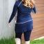 ชุดว่ายน้ำไซส์ใหญ่ พร้อมส่ง :ชุดว่ายน้ำคนอ้วนแฟชั่นสีน้ำเงินกรมแขนยาวแต่งขอบขาวสีสวยมาพร้อมกางเกงกระโปรง set 3 ชิ้นสวยเก๋น่ารักมากๆจ้า:รายละเอียดไซส์คลิกเลยจ้า thumbnail 5