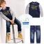 ID337- เสื้อ+กางเกง+แจ็คเก็ต 5 ชุด /แพค ไซส์ 90-130 thumbnail 1