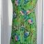 Sold เดรสยาว แขนกุด เข้าเอว ซิปหลัง สีเขียว ลายดอก thumbnail 2