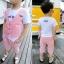 HZ607- เสื้อ+กางเกง 5 ตัว/แพค ไซส์ 80-120 thumbnail 1