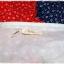 Sold เดรสยาว คอวี แขนตุ๊กตา เข้าเอว ซิปหลัง ลายดอก สีแดง ขาว น้ำเงิน thumbnail 4