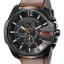 นาฬิกาผู้ชาย Diesel รุ่น DZ4343, Mega Chief Black Dial Brown Leather thumbnail 1
