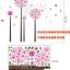 สติกเกอร์ดอกไม้สีชมพู thumbnail 9