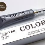สี Y&Q ชนิดหลอดเงิน สี Areca Coffee