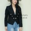 เสื้อสูทแฟชั่น Zerma GoLD buttons BLaZER สีดำ