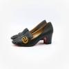 รองเท้าส้นสูงแฟชั่น Gucci สีดำ
