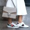 รองเท้าผ้าใบแฟชั่น GG Style - Ace Embroidered Sneakers