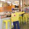 เสื้อแฟชั่น คอปีน แขนยาว บุกันหนาว ลายการ์ตูน สีเหลือง