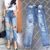 กางเกงยีนส์ทรงบอยแฟชั่น No.JH882
