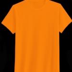 เสื้อสีพื้นไม่สกรีน คอกลม สีส้ม