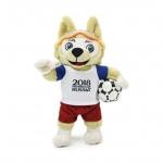 ตุ๊กตามาสคอต Zabivaka wolf ขนาด 10 นิ้ว