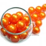 ลูกปัดมุกพลาสติก 16มิล สีส้ม (450 กรัม)