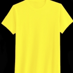 เสื้อสีพื้นไม่สกรีน คอกลม สีเหลือง