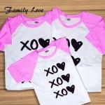 เสื้อครอบครัว เซท พ่อแม่ลูก 3ตัว Cotton100% ลายOX