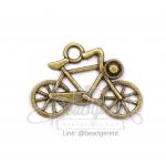 จี้เหล็ก 109 ลายจักรยาน 31x23มม. สีสนิม (1 ชิ้น)