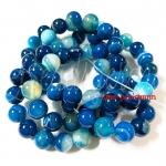 หิน blue agate 10มิล (38 เม็ด)