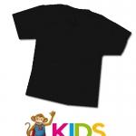 เสื้อยืดเด็กสีพื้นไม่สกรีน สีดำ