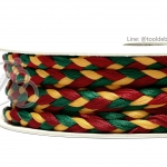 เชือกเปียสาม 6มม. สีเขียว-เหลือง-แดง (18 หลา)
