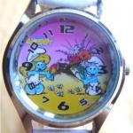 นาฬิกาข้อมือ Smurf (D) สายสีฟ้า