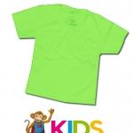 เสื้อยืดเด็กสีพื้นไม่สกรีน สีเขียวอ่อน