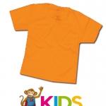 เสื้อยืดเด็กสีพื้นไม่สกรีน สีส้ม